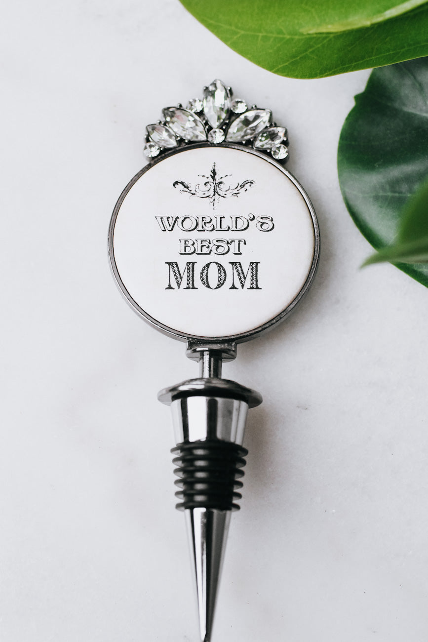 World's Best Mom Wine Stopper