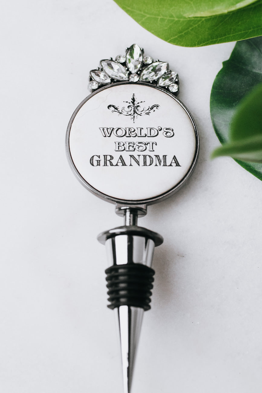World's Best Grandma Wine Stopper