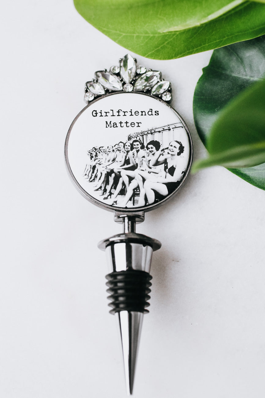 Girlfriends Matter Sitting Wine Stopper