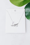 Cursive Metal Love Necklace