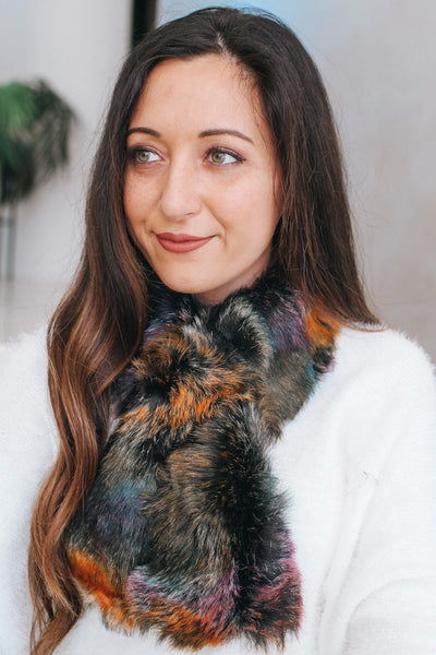 Ombre Short Faux Fur Scarf (Sale)