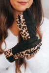 Leopard Wrist & Two Fingers Gloves