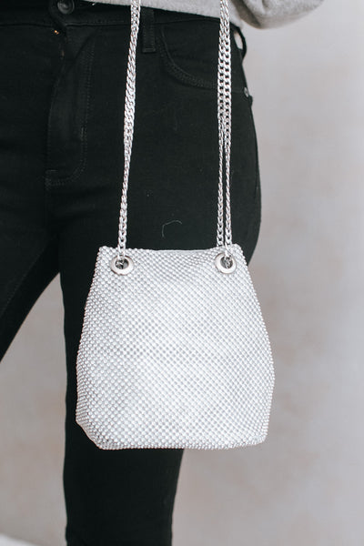 All Mesh Stone Clutch with Grommets