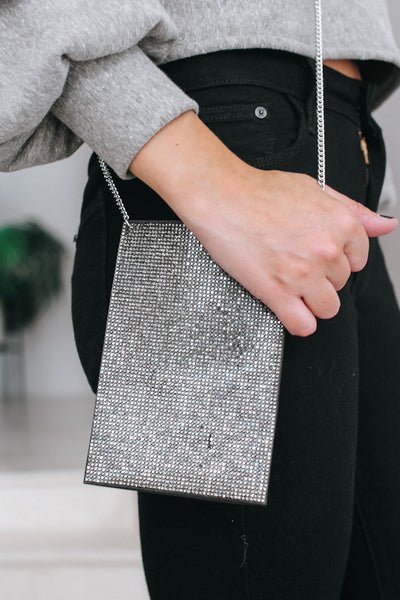 ID Holder Back Flat Rhinestone Messenger