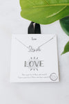Small Pave Cursive Love Necklace