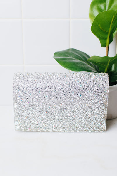AB Scattered Stone Flap Clutch