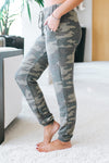 Camo Print Jogger with Pockets