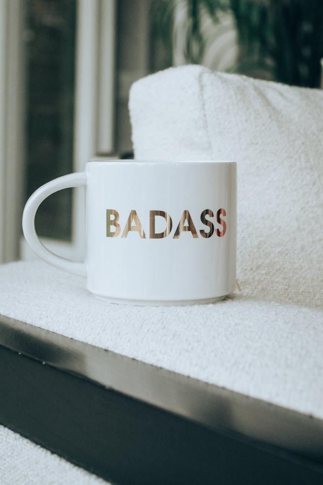 Badass Coffee Mug-Glitz & Ears Boutique