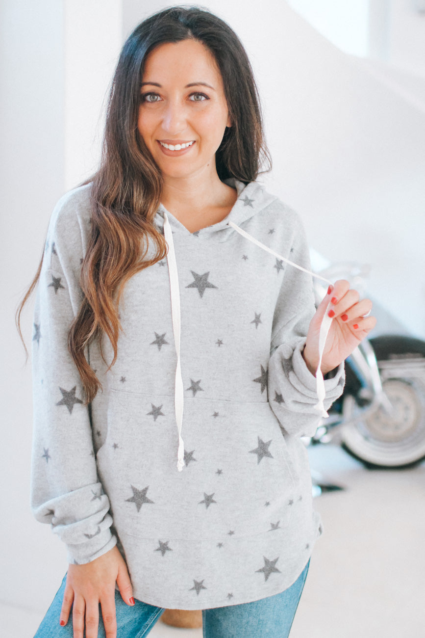 Fleece Star Pull Over Hoodie