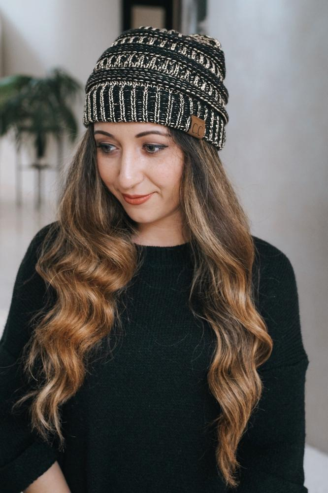 Metallic Stitch CC Beanie-Glitz & Ears Boutique