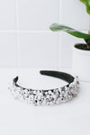 All Pearl & Crystal Fabric Headband