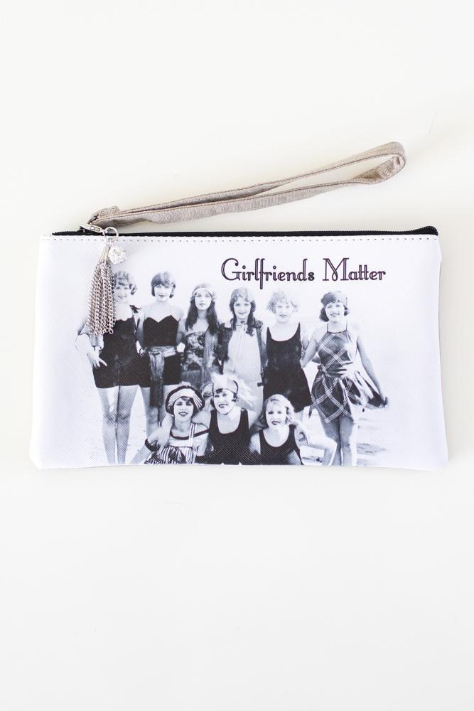 Retro GF's Matter Wristlet/Makeup Bag-Glitz & Ears Boutique
