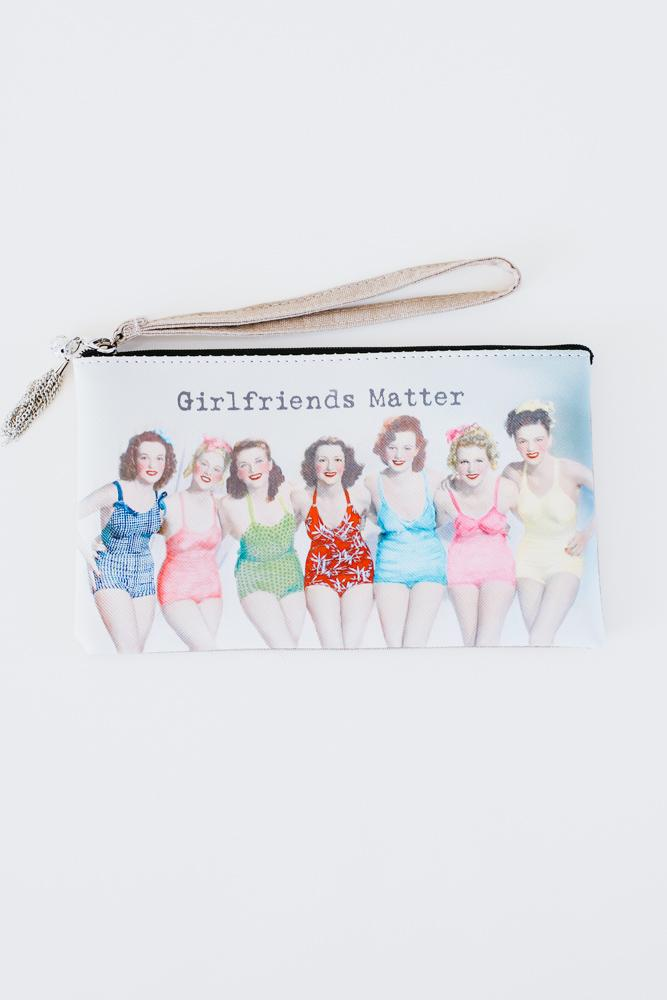 Retro Swimsuit Wristlet/Makeup Bag-Glitz & Ears Boutique