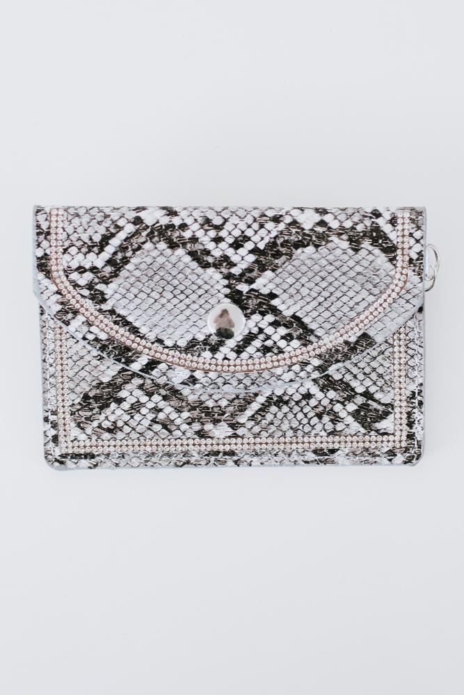 Metallic Snake Print Coin Purse-Glitz & Ears Boutique
