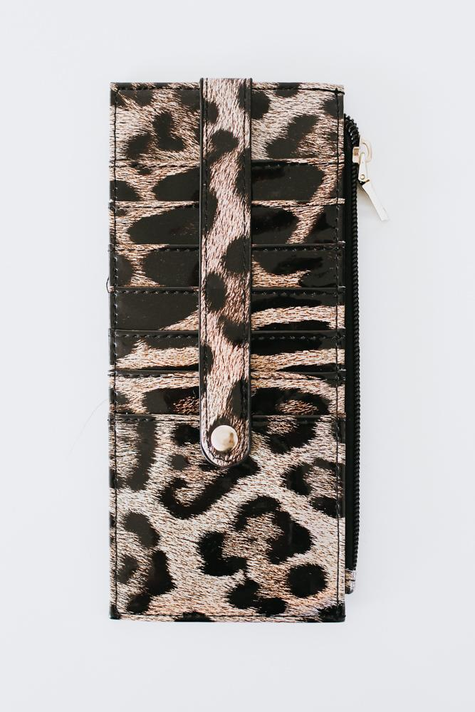 Patent Leather Printed Wallet