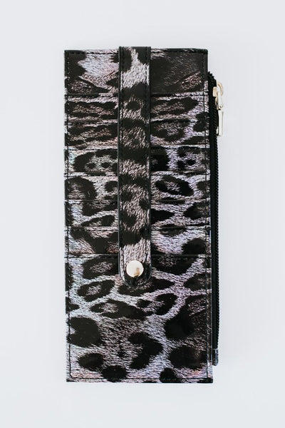 Patent Leather Printed Wallet-Glitz & Ears Boutique