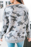 Snap Arms Fleece Camo Top