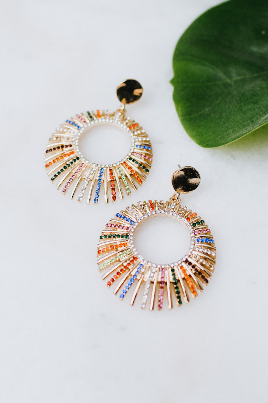 Short to Long Row Open Circle Earring