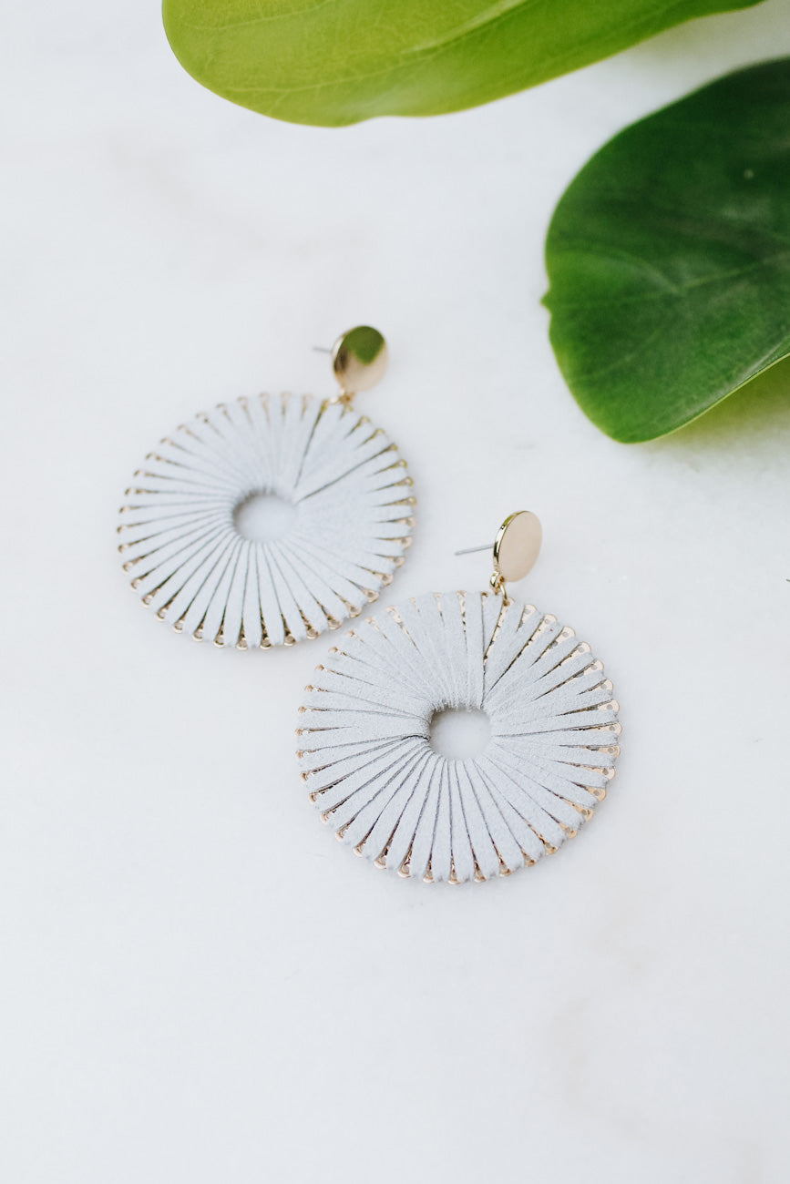 Suede Threaded Circle Earring