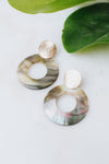Opal Open Shell Circle Earring