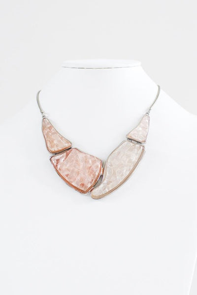 Abstract Shiny Marble Necklace - Glitz & Ears