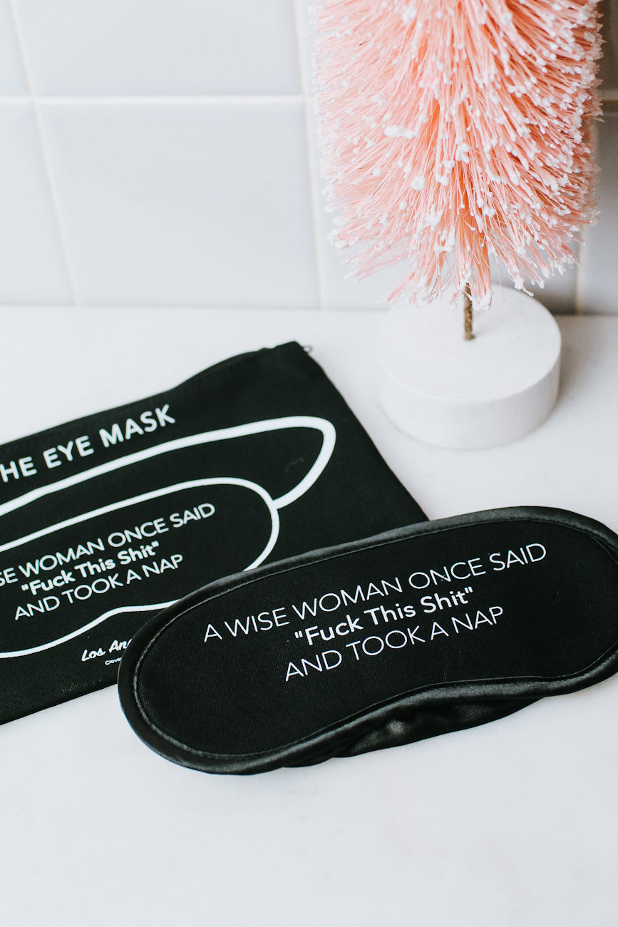 A Wise Woman Eye Mask & Pouch