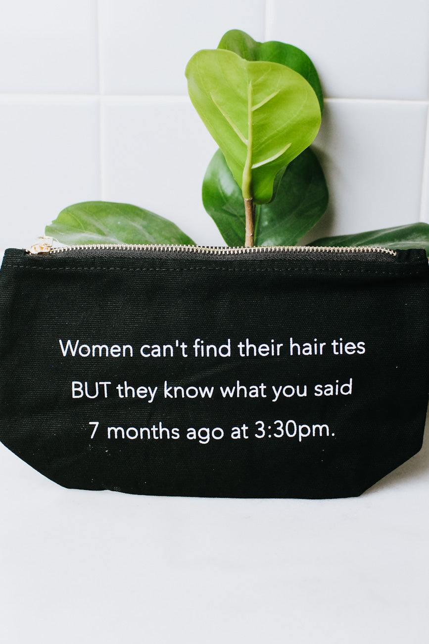 Women Can't Find Hair Ties Makeup Bag