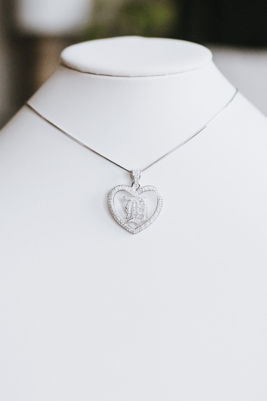Open Heart Detroit 'D' Necklace