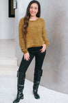 Cropped Chenille Knit Sweater (Sale)