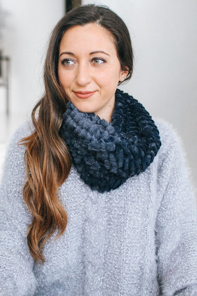 Layered Faux Fur Infinity Scarf