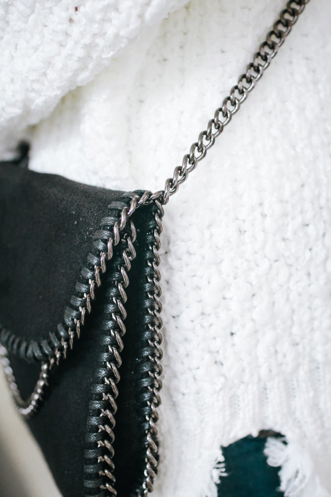Chain Side Suede Messenger
