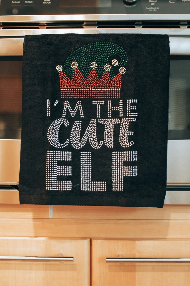 I Am Cute Elf Towel-Glitz & Ears Boutique