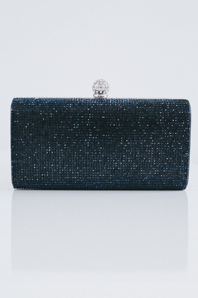 Rhinestone Front Ball Top Clutch
