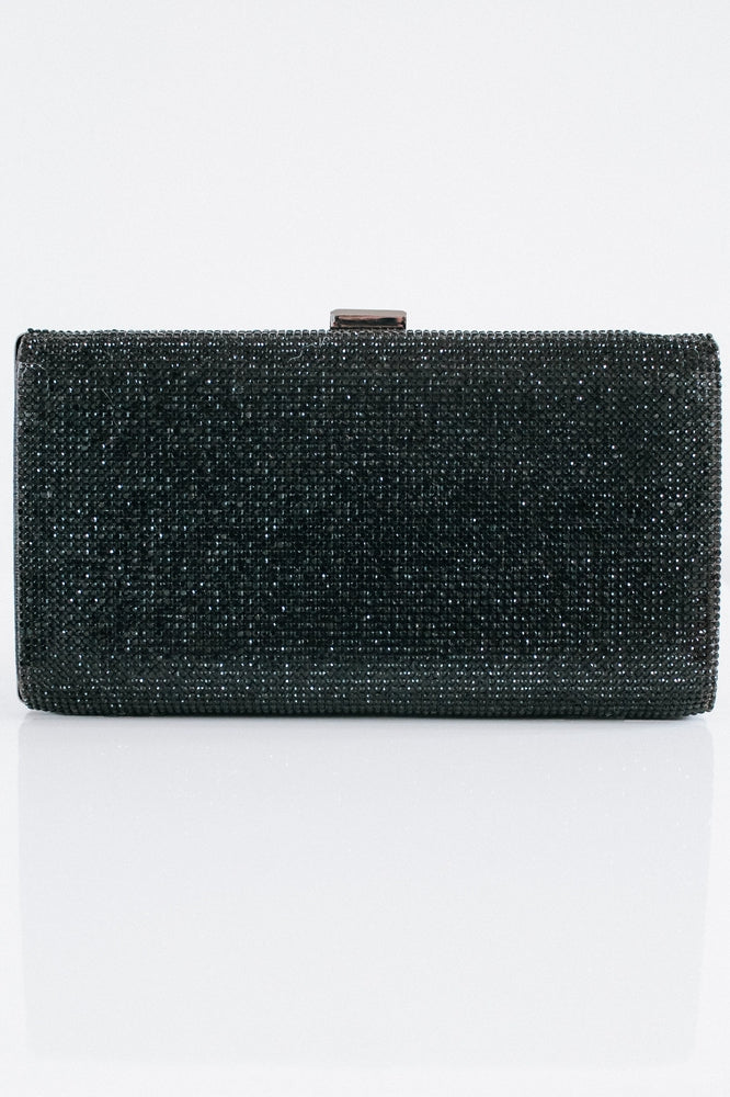 Metallic Back Rhinestone Clutch