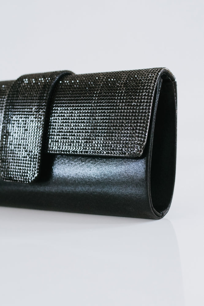 Rhinestone Flap Sparkle Clutch