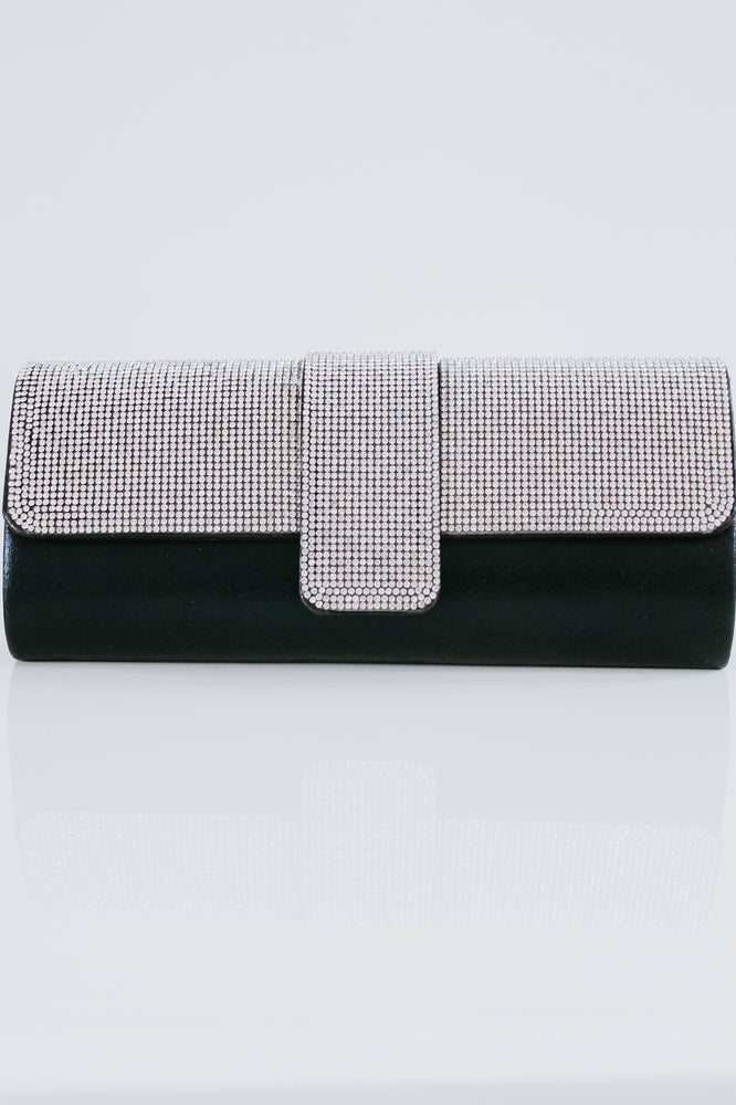 Rhinestone Flap Rounded Clutch