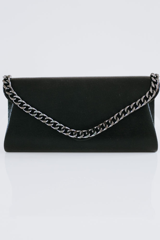 Shiny Chain Trim Flap Clutch