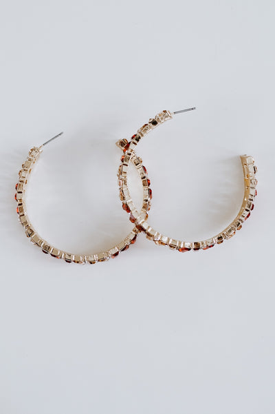 Stagger Two Tone Baguette Hoop-Glitz & Ears Boutique