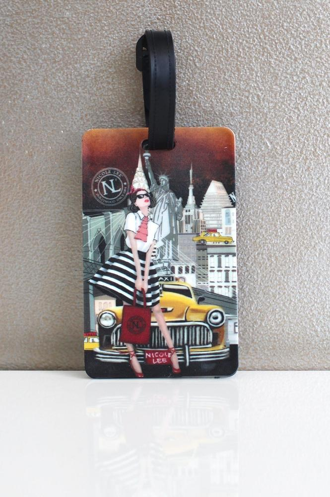 Girl in the City Luggage Tag - Glitz & Ears