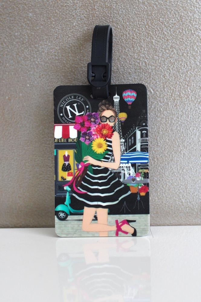 Girl in Paris Luggage Tag - Glitz & Ears