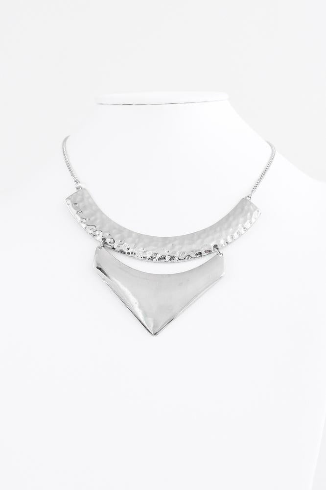 Hammered Scoop & Pointed Necklace