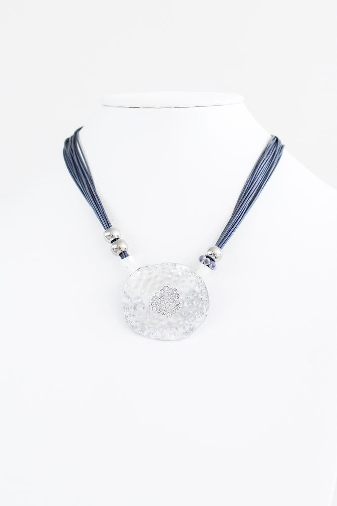 Intertwined Circles with Oval Stone Necklace - Glitz & Ears