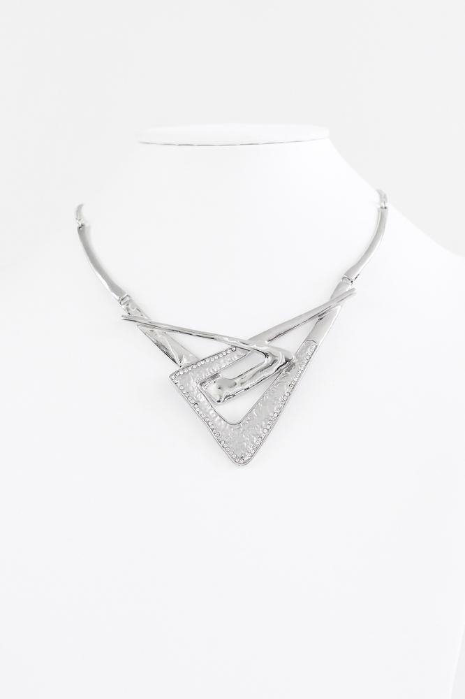 Slanted Triangles Intertwined Necklace