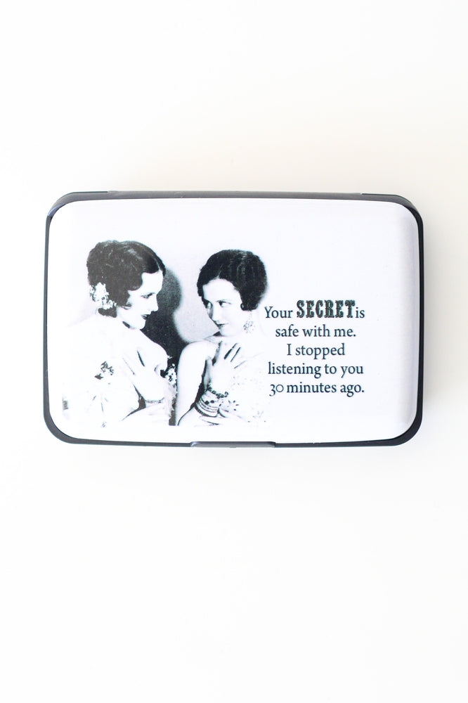 Secret Is Safe Card Holder