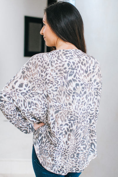 Leopard & Snake Combo Zipper Top