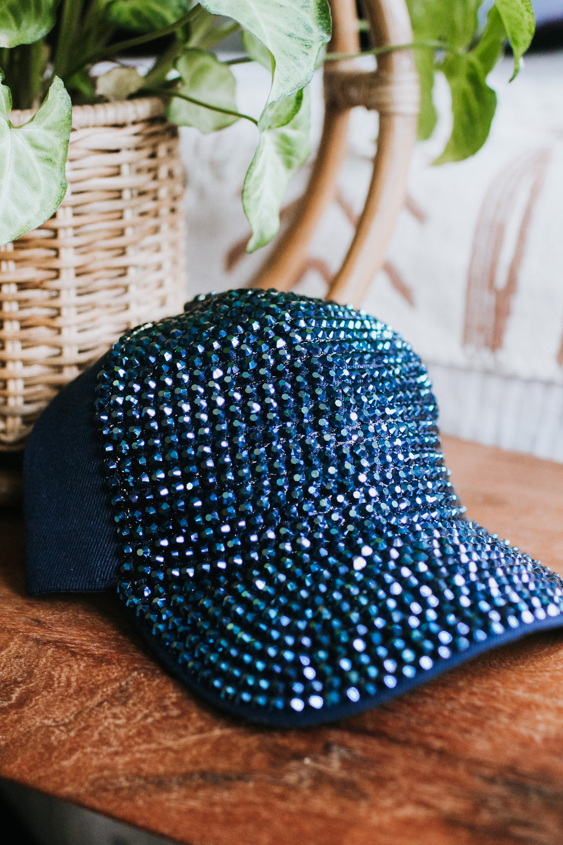 Rhinestone Front & Bill Baseball Hat