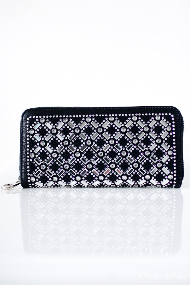 Baguette X & Diamond Front Wallet - Glitz & Ears
