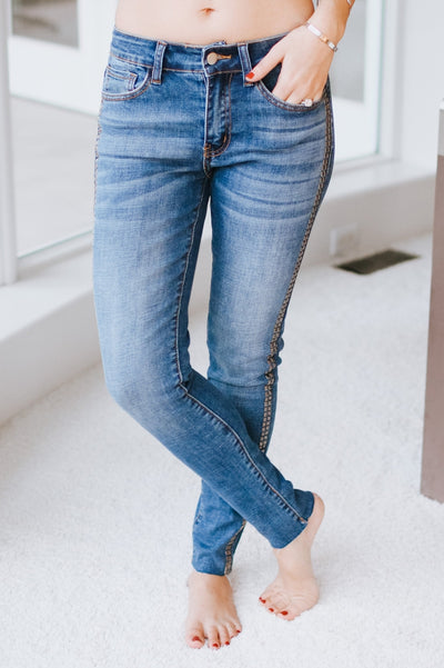Two Row Stud Side Jean-Glitz & Ears Boutique