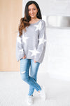 Two Tone Star Wide Sleeve Sweater