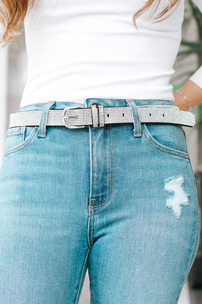 All Rhinestone Belt